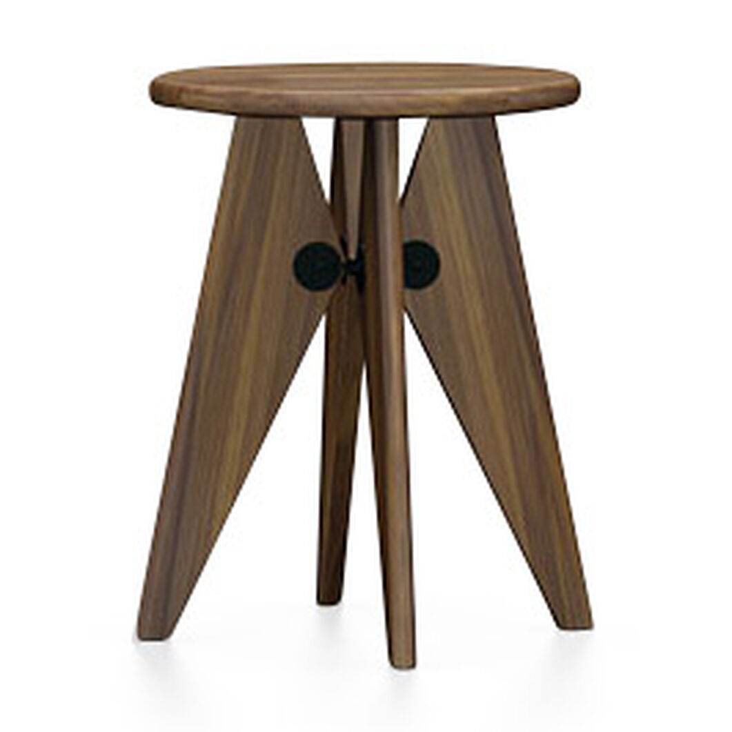 Tabouret Solvay in color Walnut