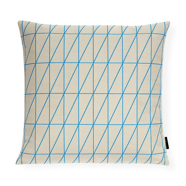 Bright Angle Cyan Pillow in color