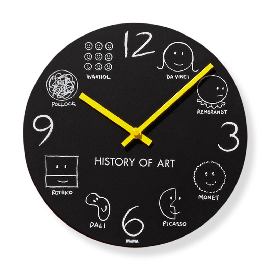 History of Art Wall Clock in color