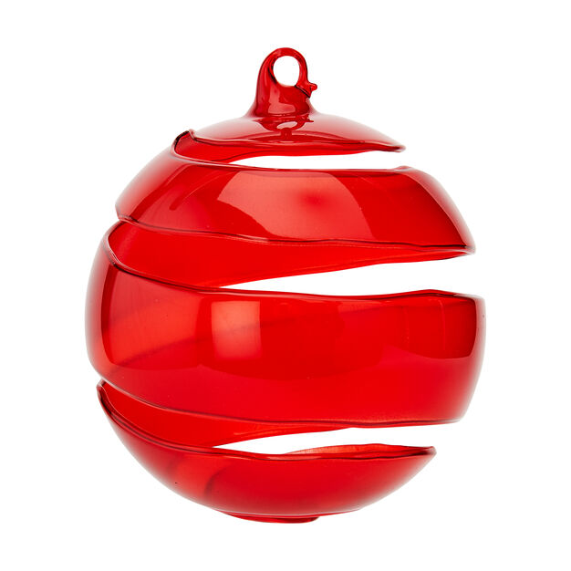Red Spiral Ornament in color