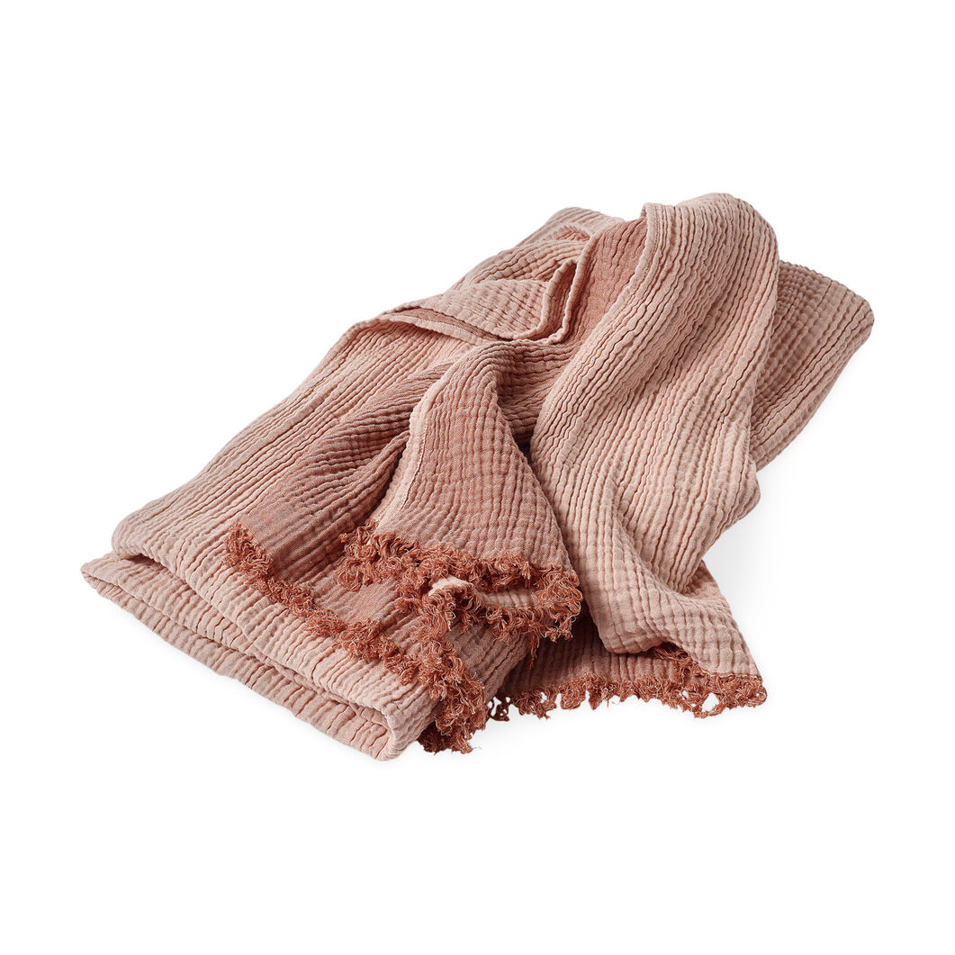 HAY Crinkle Throw in color Peach