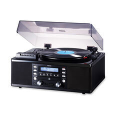TEAC LP-R660USB-PB CD Recorder with Cassette Player and Turntable in color Black