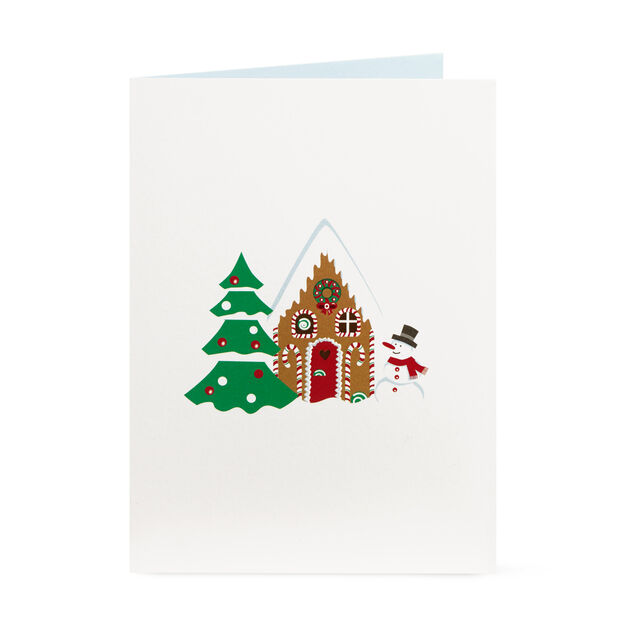 Gingerbread Cabin Holiday Cards (Box of 8) in color