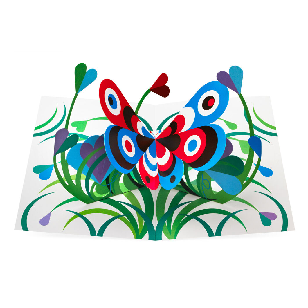 Pop-Up Butterfly Note Cards in color