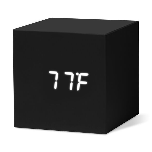 Color Cube Clocks in color Black
