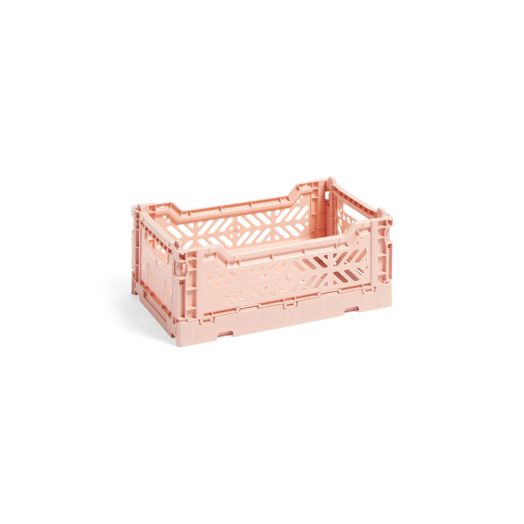 HAY Collapsible Storage Bins in color Soft Pink