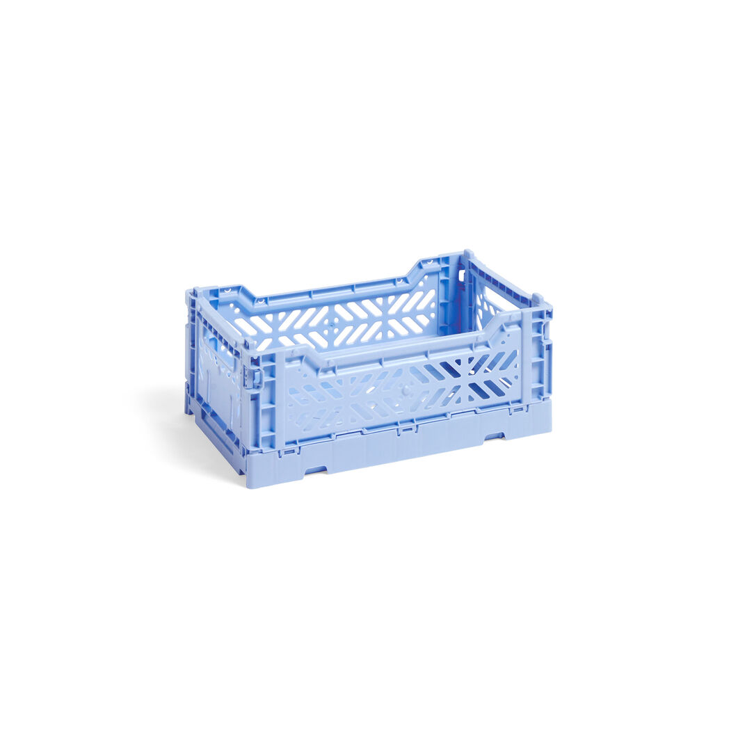 HAY Collapsible Storage Bins in color Light Blue