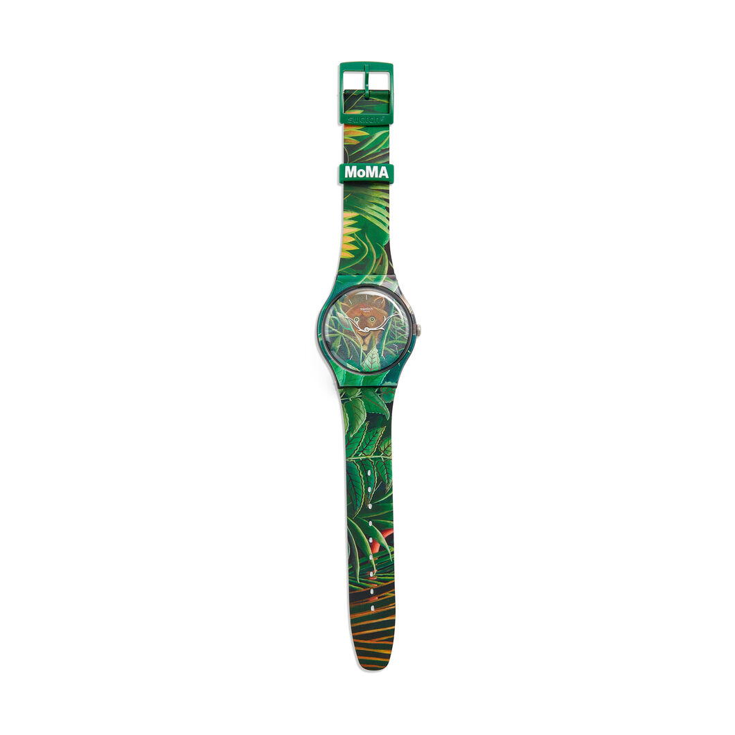 Swatch x MoMA Watches in color Rousseau