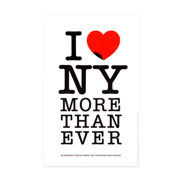 Milton Glaser: I Love NY More Than Ever Poster in color