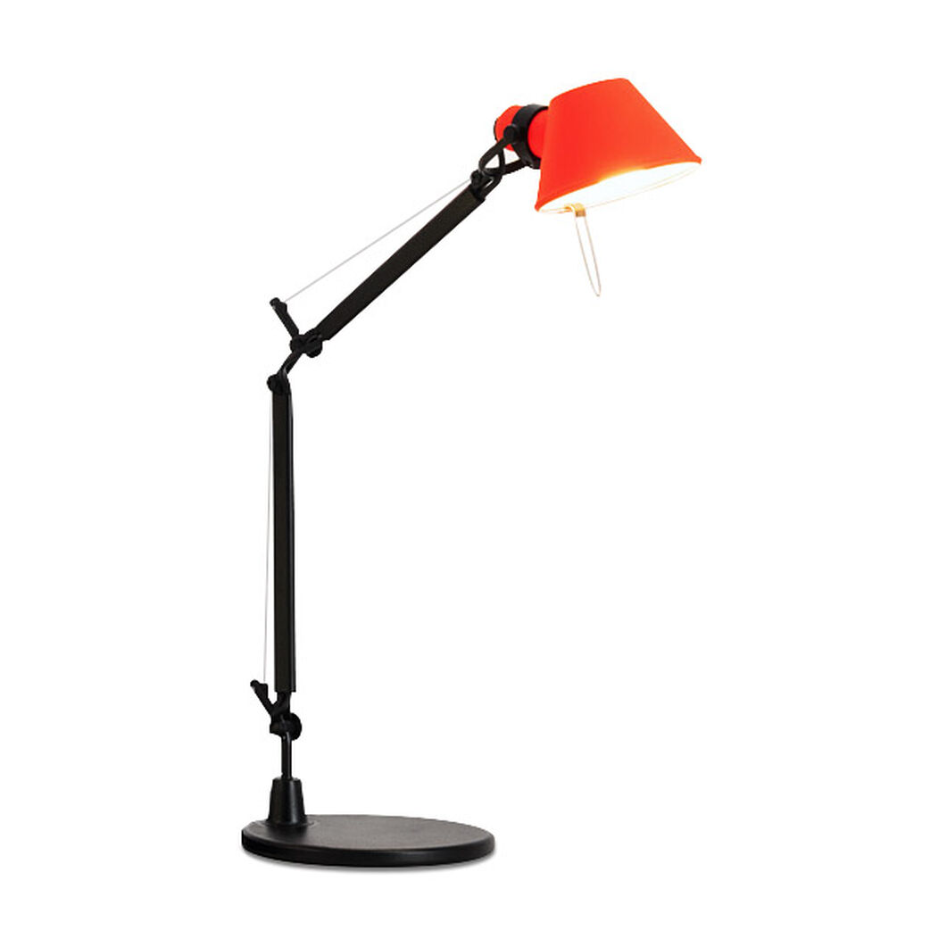 Tolomeo Micro Bi Color Desk Lamp in color Coral