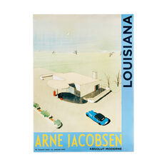 Arne Jacobsen: Skovshoved Tankstation Poster in color