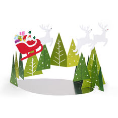 Santa's Flying Sleigh Holiday Cards - Set of 8 in color
