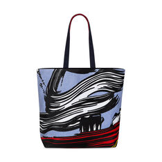 Roy Lichtenstein: Brushstrokes Canvas Tote Bag in color