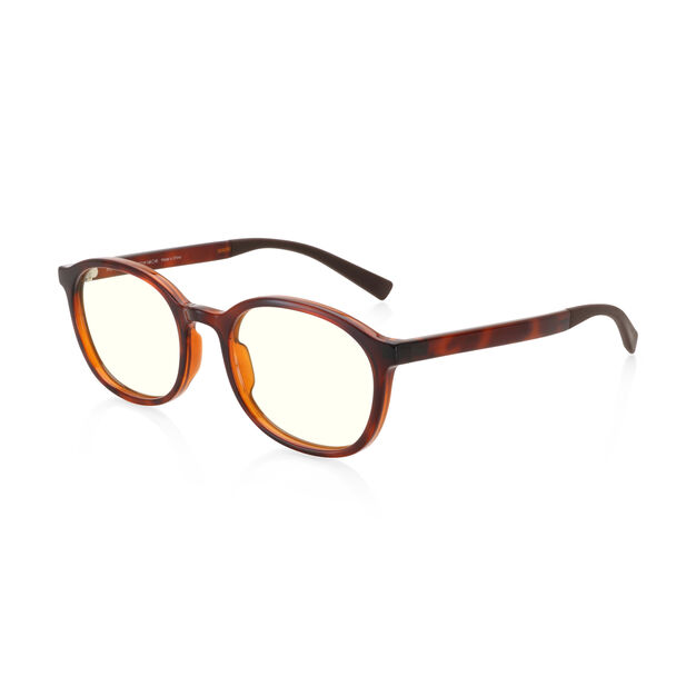 JINS Boston Screen Glasses by Jasper Morrison in color Tortoise