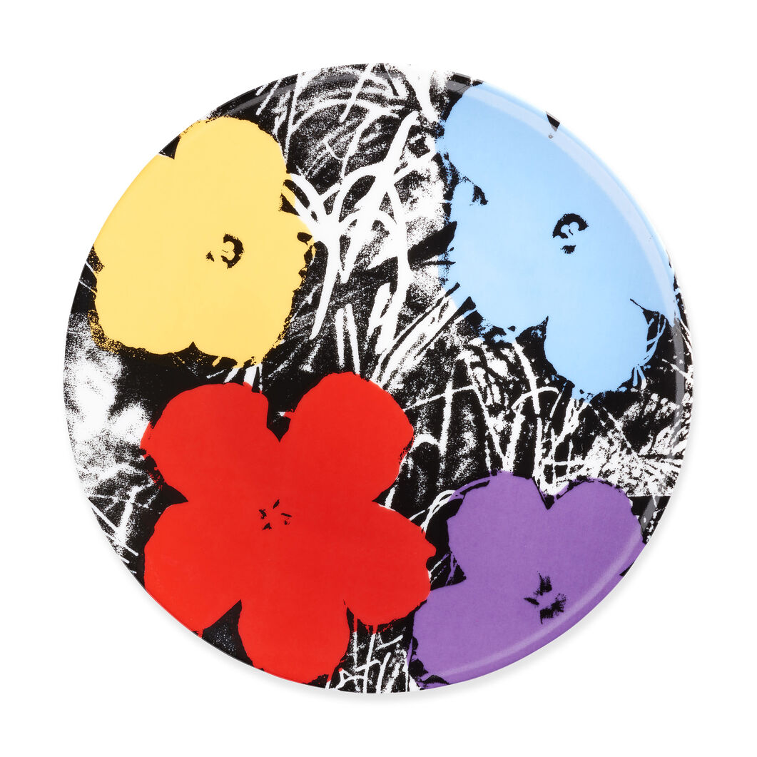 Andy Warhol Flowers Plate in color