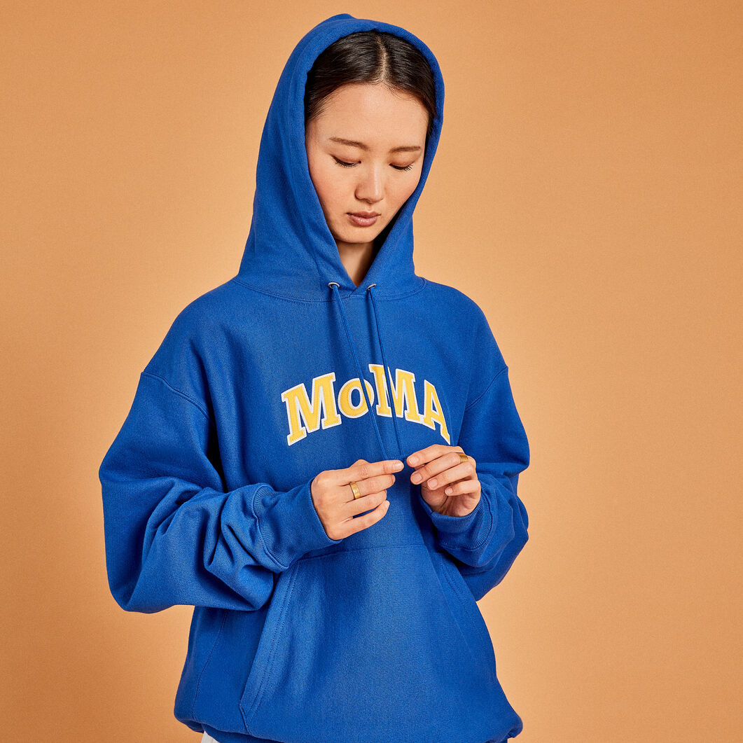 Champion Hoodie - MoMA Edition in color Blue