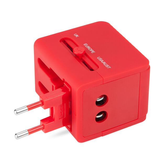 Travel Adaptor with USB Ports in color