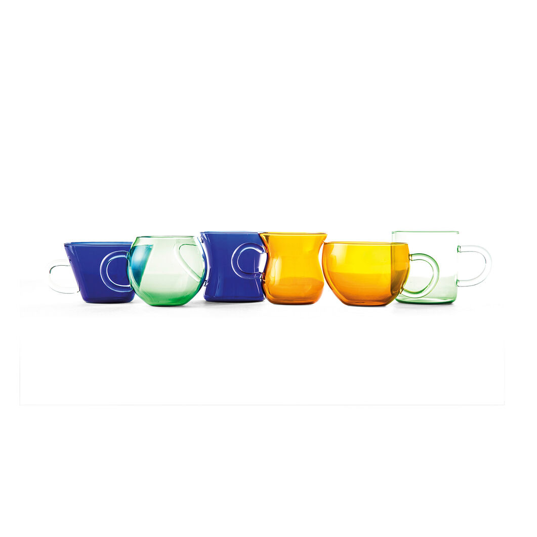 Glass Tea Cups in color