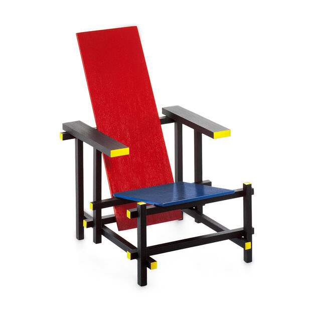 miniature chair rietveld red blue moma design store