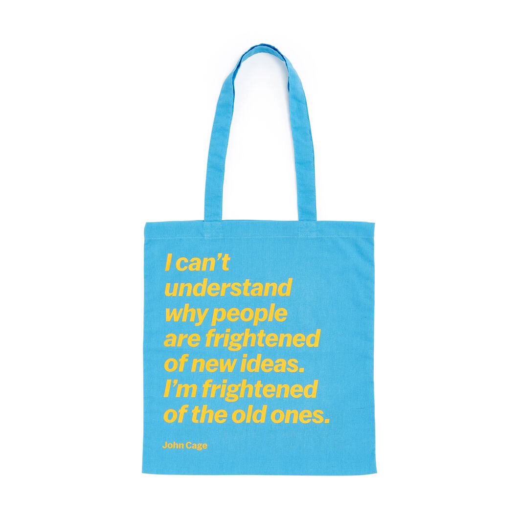 Artist Quote Totes in color John Cage