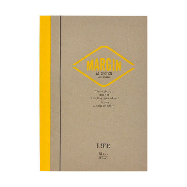 Life Margin Graph Notebook in color