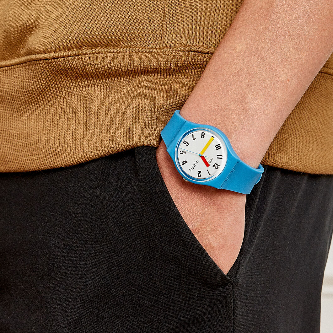 Swatch Essential Watch in color Blue