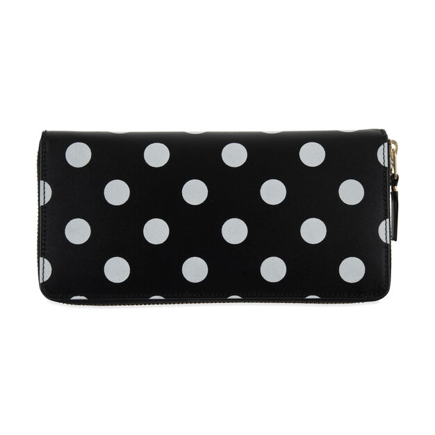 Comme des Garçons Oblong Black-and-White Polka Dot Wallet in color