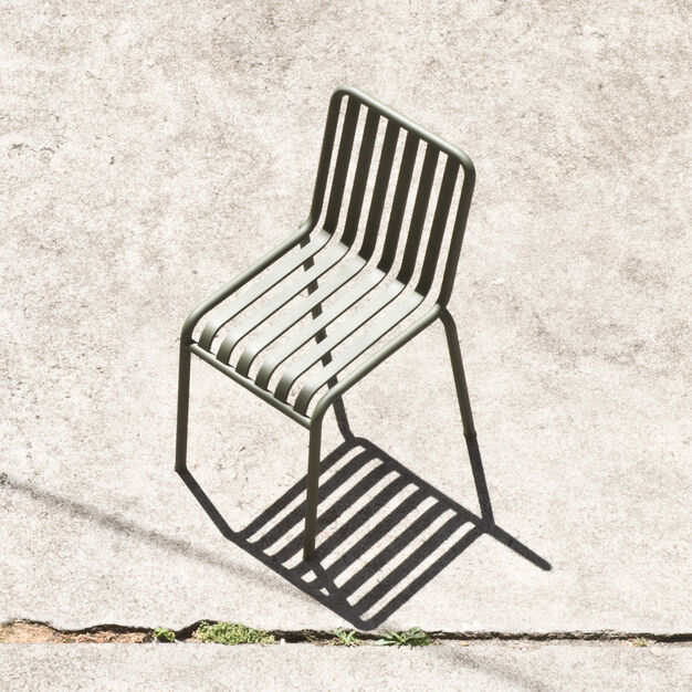 HAY Palissade Outdoor Side Chair in color Anthracite