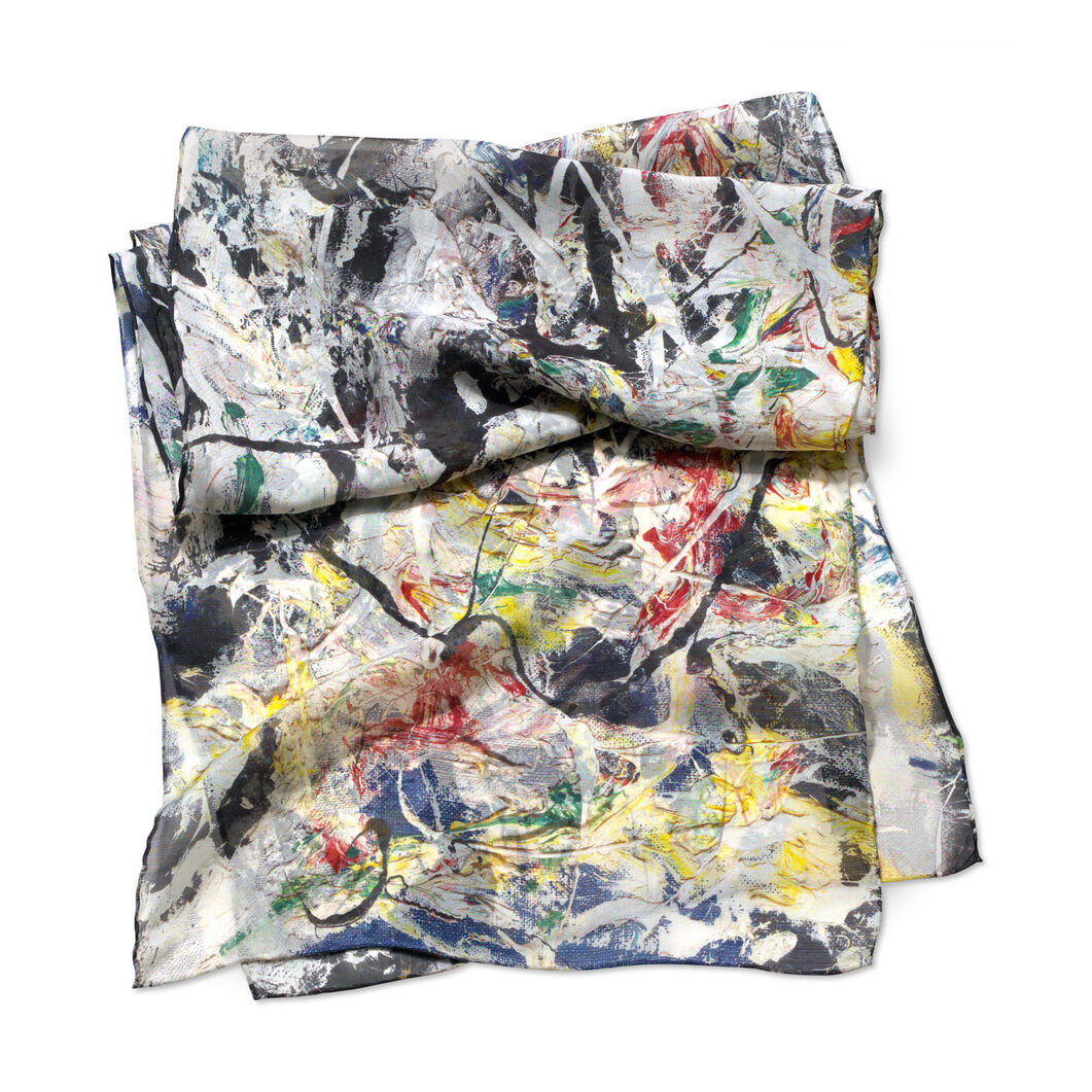 Jackson Pollock: White Light Scarf in color