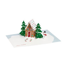 Gingerbread Cabin Holiday Cards in color