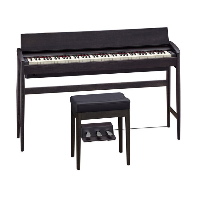 Roland Kiyola Piano in Black-Stained Oak in color