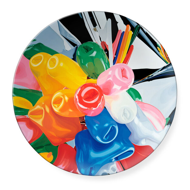 Jeff Koons: Tulips Plate in color