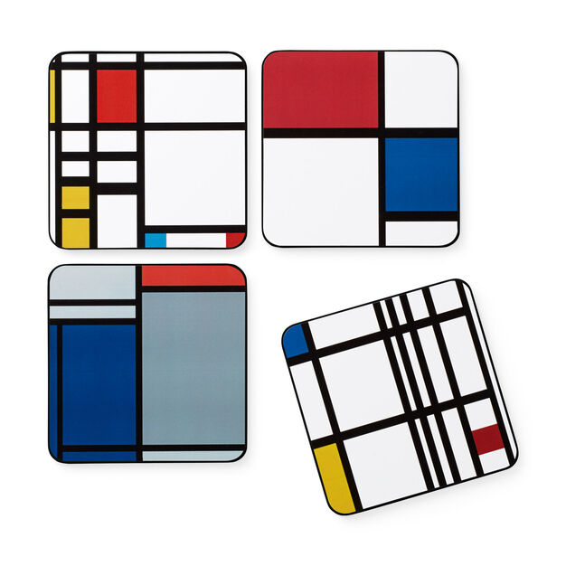 Mondrian Coasters in color