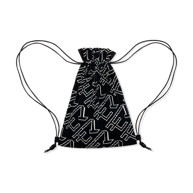 PLEATS PLEASE ISSEY MIYAKE Pleats Knapsack for MoMA in color Black