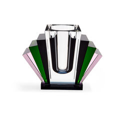 Harlem Deco Crystal Vase in color