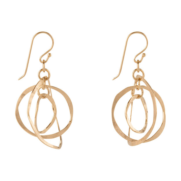 Concentric Gold Hoop Earrings in color