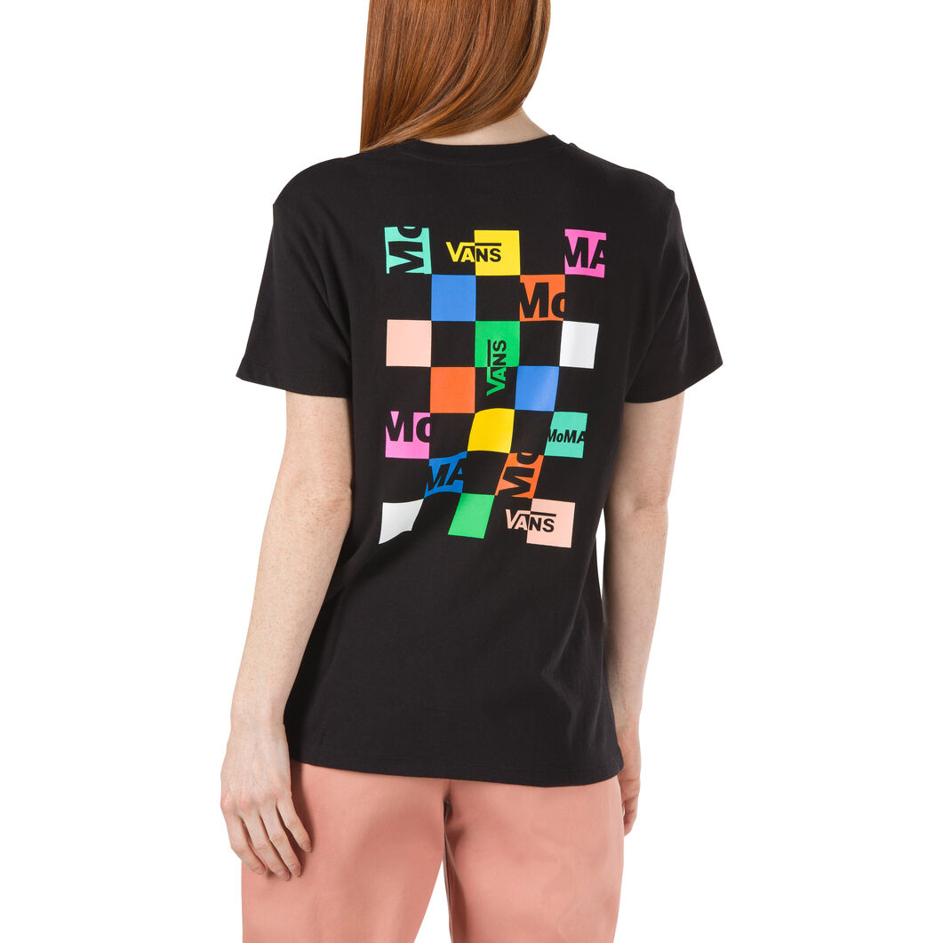 MoMA and Vans Short-Sleeve Womens T-Shirt with Checkerboard Logo in color