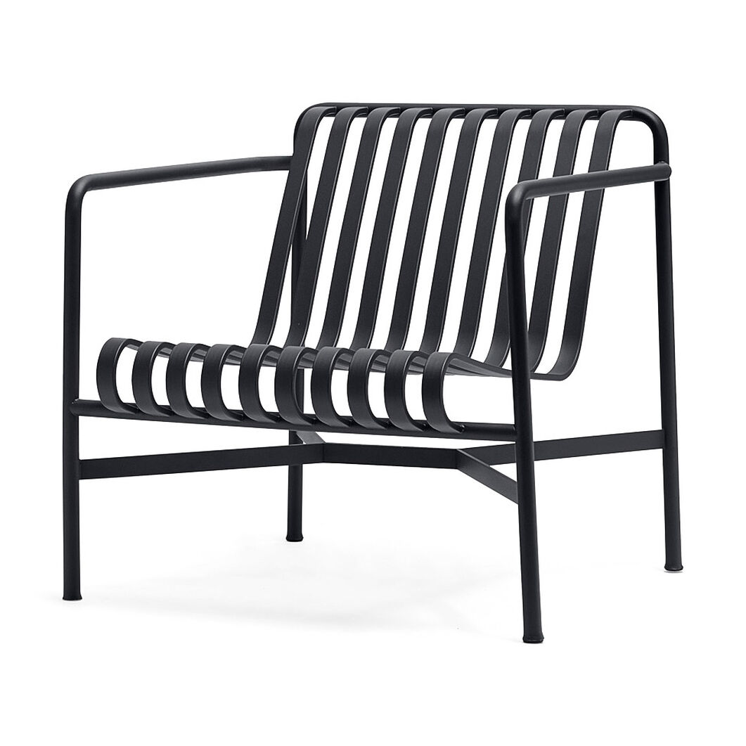 HAY Palissade Outdoor Low Lounge Chair in color Anthracite