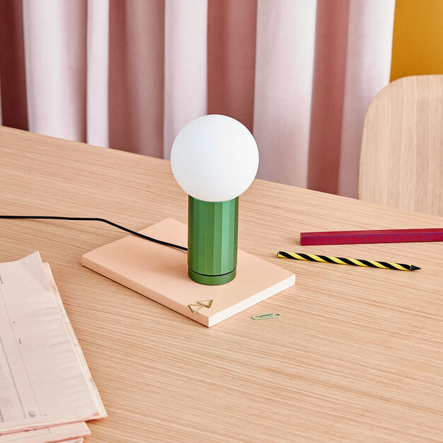 HAY Turn On Table Light in color Green