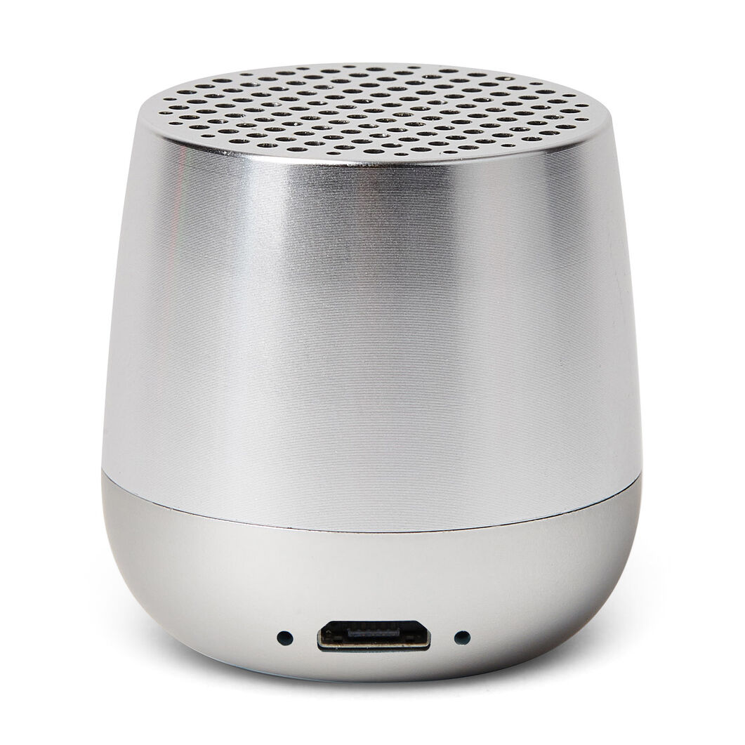 Lexon Mino+ Wireless Charging Speaker in color Aluminum