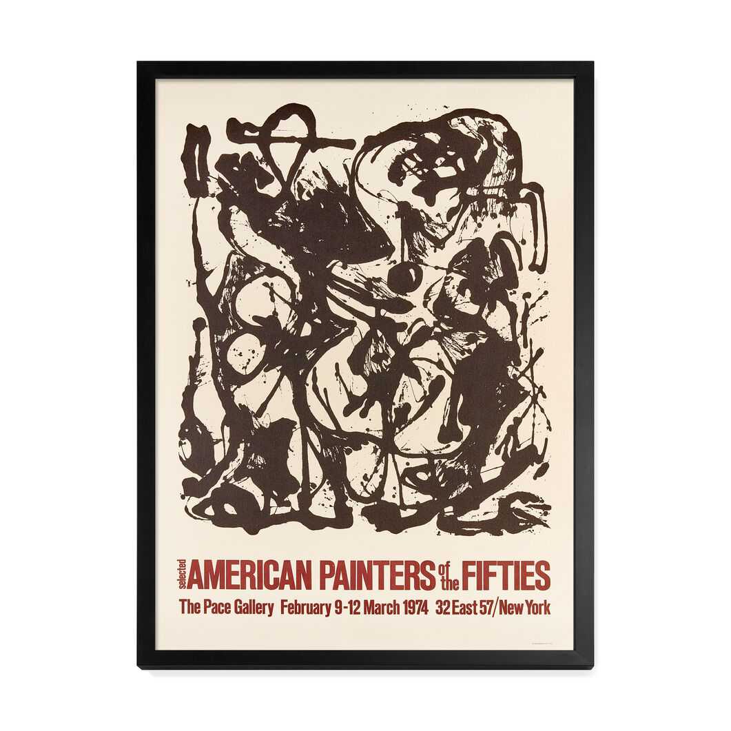 Jackson Pollock: American Painters of the Fifties Framed Poster in color