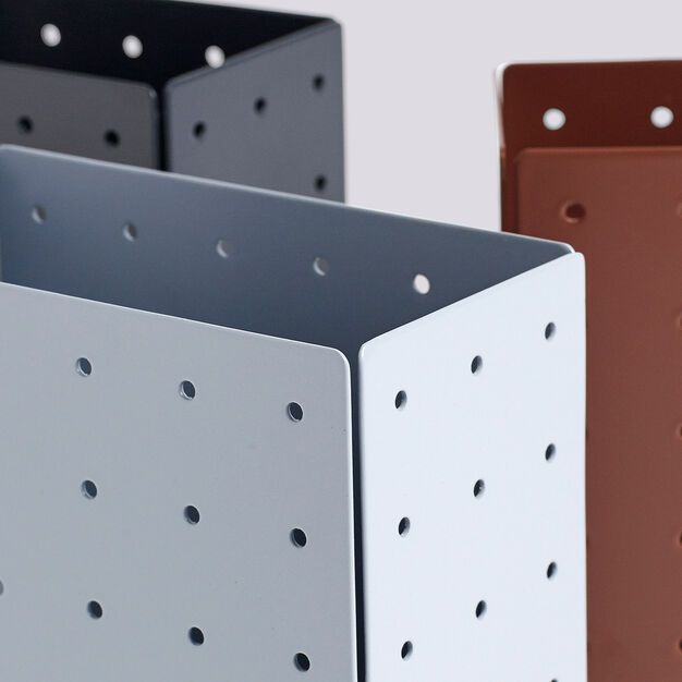 HAY Punched Organizer Holder in color Terracotta