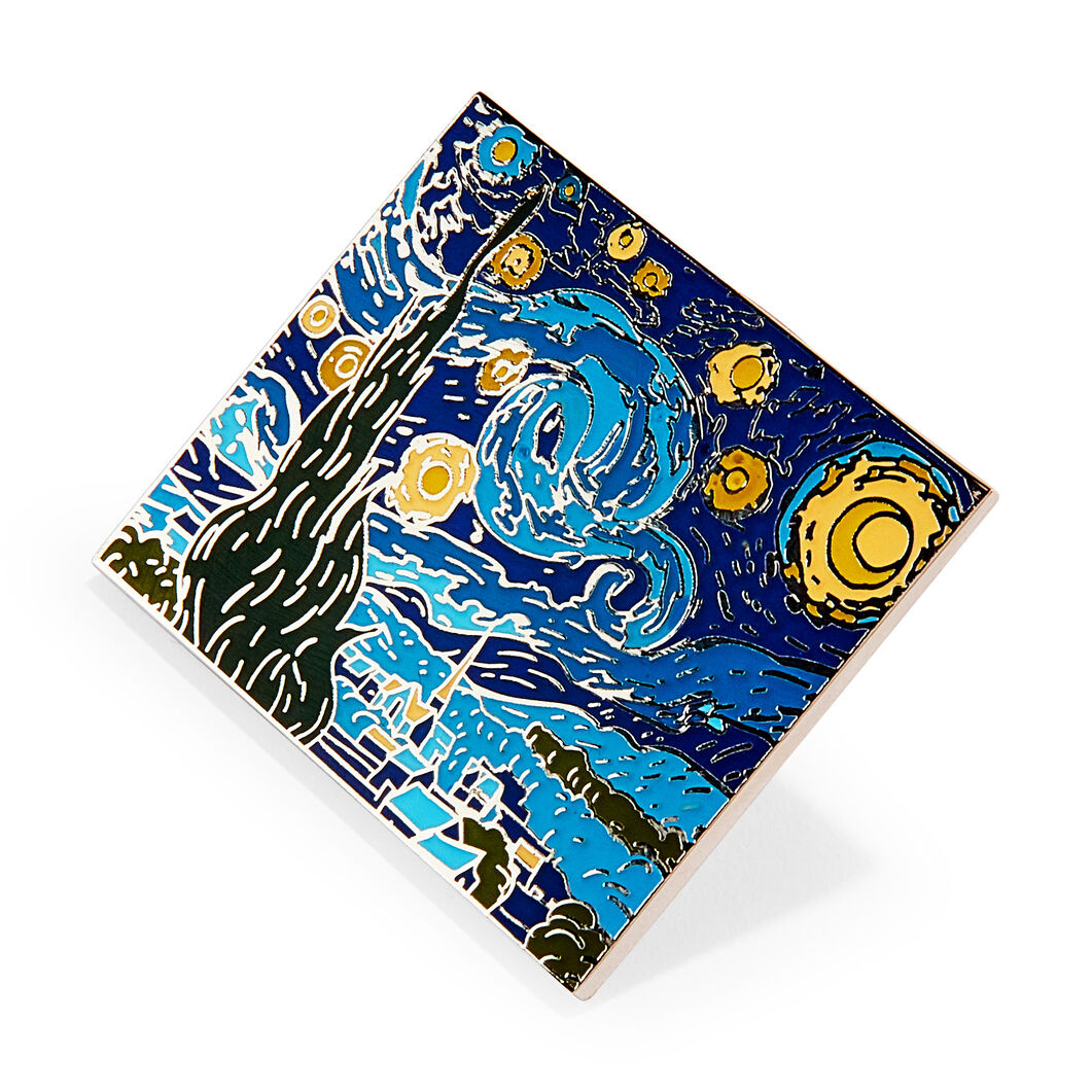 Vincent Van Gogh Starry Night Enamel Pin Moma Design Store