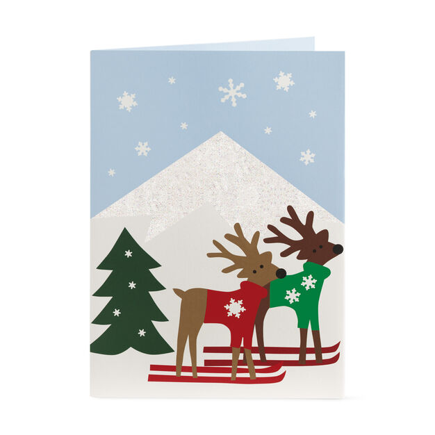 Alpine Reindeer Holiday Cards (Box of 8) in color