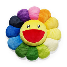 Plush Murakami Flower Cushion in color