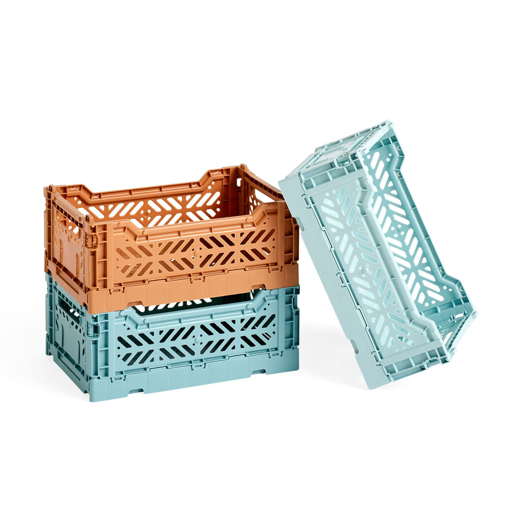 HAY Collapsible Storage Bins in color Tan