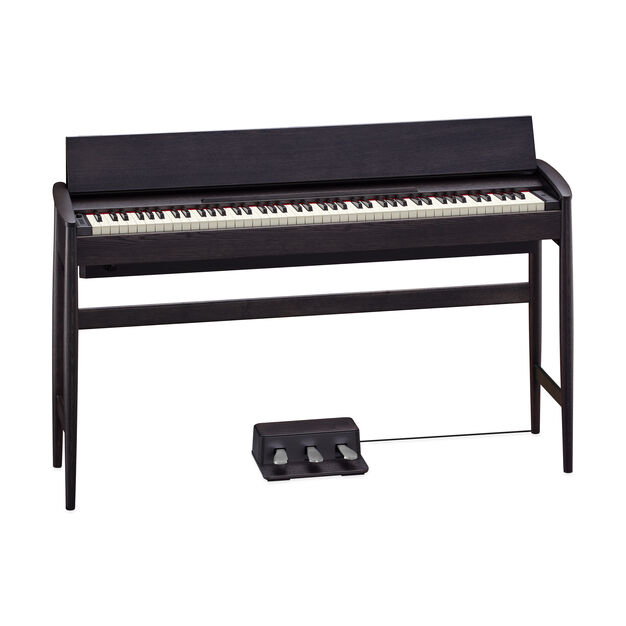 Roland Kiyola Piano in Black-Stained Oak - Model KF-10 in color
