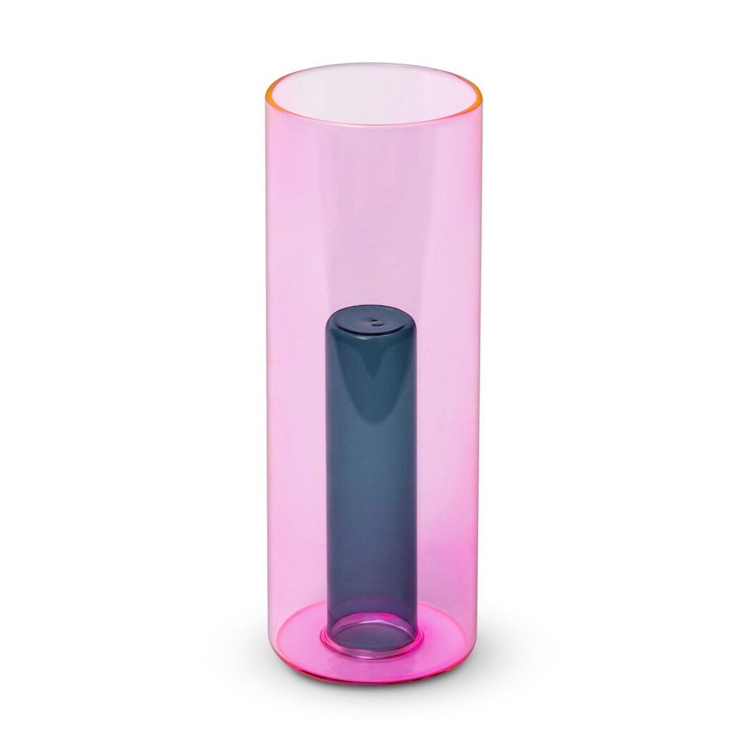 Reversible Glass Vase in color Pink/ Green