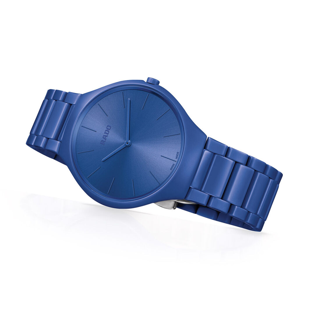 Rado True Thinlines Les Couleurs Le Corbusier Watch in color Ultramarine