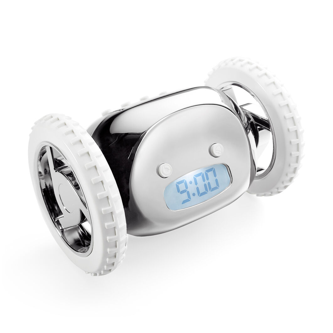 Clocky Alarm Clock in color Silver